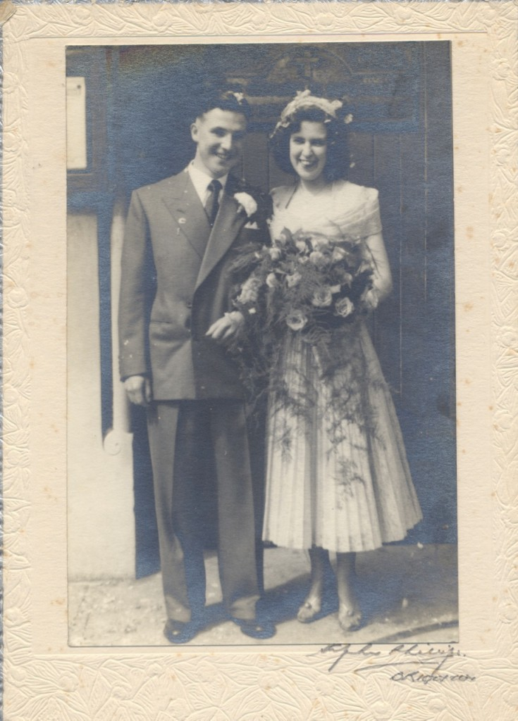 Betty's wedding in 1953